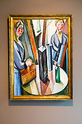 """The Mirror"" 1917 by William Scharff (1886-1959), oil on canvas, Kode 4 art gallery Bergen, Norway - check copyright status for intended use"