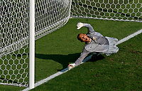 Photo: Glyn Thomas.<br />Italy v Australia. 2nd Round, FIFA World Cup 2006. 26/06/2006.<br /> Australia's goalkeeper Mark Schwarzer is beaten by Francesco Totti's penalty in the last-minute.