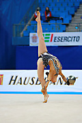 Valente Rafaela during qualifying at ball in Pesaro World Cup 01 April 2016. Rafaela is a gymnast from Portugal. She is born in Almada, 1998.
