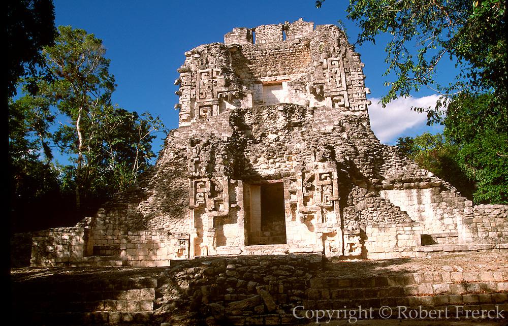 MEXICO, MAYAN, YUCATAN Chicanna; Palace 'CHAC' doorway