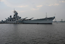 Camden, New Jersey, view of Battleship New Jersey..Philadelphia, Pennsylvania, PA USA.  Photo copyright Lee Foster, 510-549-2202, lee@fostertravel.com, www.fostertravel.com.  Photo 280-30353