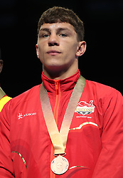 England's Luke MCCormack takes bronze in the Men's Welterweight final at Oxenford Studios during day ten of the 2018 Commonwealth Games in the Gold Coast, Australia.