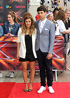 arrive for the London auditions of 'The X Factor' at ExCel on June 19, 2013 in London, England pictures Brian Jordan/Retna pictures