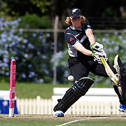 Haidee Tiffen battingduring the match between England and New Zealand in the Super 6 stage of the ICC Women's World Cup Cricket tournament at Bankstown Oval, Sydney, Australia on March 14 2009, England won the match by 31 runs. Photo Tim Clayton