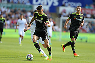 Gary Cahill of Chelsea in action. Premier league match, Swansea city v Chelsea at the Liberty Stadium in Swansea, South Wales on Sunday 11th Sept 2016.<br /> pic by  Andrew Orchard, Andrew Orchard sports photography.