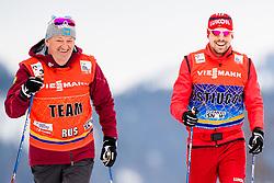 January 2, 2018 - Oberstdorf, GERMANY - 180102 Markus Cramer, coach, and Sergey Ustiugov of Russia during a training session in Tour de Ski on January 2, 2018 in Oberstdorf..Photo: Jon Olav Nesvold / BILDBYRN / kod JE / 160116 (Credit Image: © Jon Olav Nesvold/Bildbyran via ZUMA Wire)
