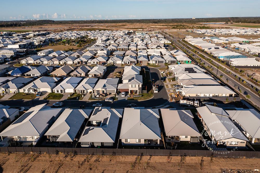 Aura, Caloundra, Australia-13 July 2021: Homes in Aura, a planned city, Caloundra, Sunshine Coast, Queensland, Austraila