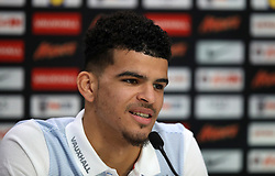 England's Dominic Solanke during a press conference at Enfield Training Ground, London. PRESS ASSOCIATION Photo. Picture date: Monday November 13, 2017. See PA story SOCCER England. Photo credit should read: Mike Egerton/PA Wire. RESTRICTIONS: Use subject to FA restrictions. Editorial use only. Commercial use only with prior written consent of the FA. No editing except cropping.during a training session at Enfield Training Ground, London. PRESS ASSOCIATION Photo. Picture date: Monday November 13, 2017. See PA story SOCCER England. Photo credit should read: Mike Egerton/PA Wire. RESTRICTIONS: Use subject to FA restrictions. Editorial use only. Commercial use only with prior written consent of the FA. No editing except cropping.