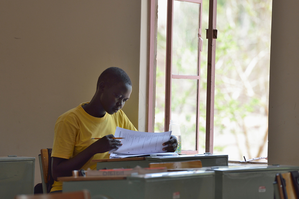A student studying at the Loreto Girls Secondary School in Rumbek, South Sudan. The school is run by the Institute for the Blessed Virgin Mary--the Loreto Sisters--of Ireland.