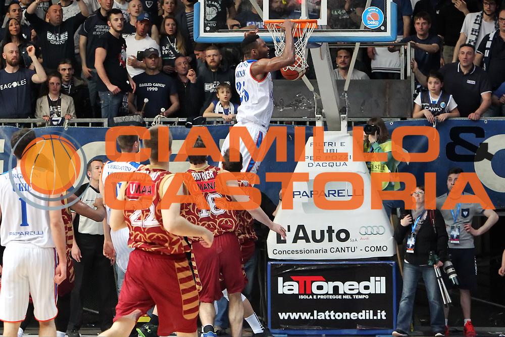 DESCRIZIONE: Cantu' Lega A 2015-16 <br /> Acqua Vitasnella Cantu' vs Umana Reyer Venezia<br /> GIOCATORE: JaJuan Johnson<br /> CATEGORIA: schiacciata sequenza controcampo<br /> SQUADRA: Acqua Vitasnella Cantu'<br /> EVENTO: Campionato Lega A 2015-2016<br /> GARA: Acqua Vitasnella Cantu' Umana Reyer Venezia<br /> DATA: 26.03.2016<br /> SPORT: Pallacanestro<br /> AUTORE: Agenzia Ciamillo-Castoria/A. Ossola<br /> Galleria: Lega Basket A 2015-2016<br /> Fotonotizia: Cantu' Lega A 2015-16 <br /> Acqua Vitasnella Cantu' Umana Reyer Venezia
