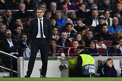 March 13, 2019 - Barcelona, Catalonia, Spain - March 13, 2019 - Barcelona, Spain - Uefa Champions League 1/8 of final second leg, FC Barcelona v Olympique de Lyon: Ernesto Valverde of FC Barcelona focused on the match. (Credit Image: © Marc Dominguez/ZUMA Wire)