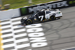 June 1, 2018 - Long Pond, Pennsylvania, United States of America - JJ Yeley (7) brings his car down the frontstretch during qualifying for the Pocono 400 at Pocono Raceway in Long Pond, Pennsylvania. (Credit Image: © Chris Owens Asp Inc/ASP via ZUMA Wire)