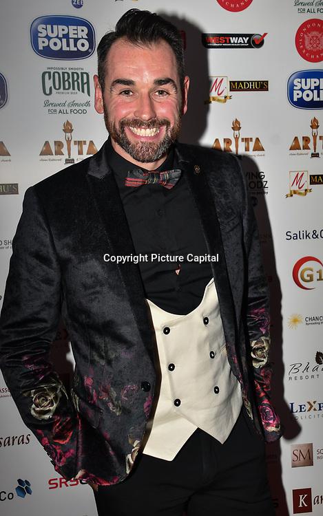 Ben Jardine attend at Asian Restaurant & Takeaway Awards | ARTA 2018 at InterContinental London - The O2, London, UK. 30 September 2018.