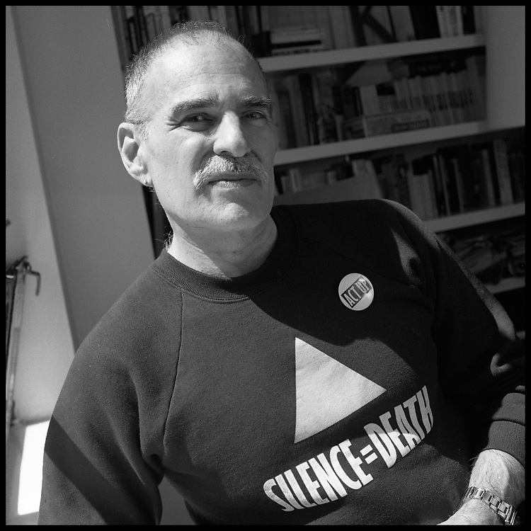 Larry Kramer photographed at his home in New York City in 1990.