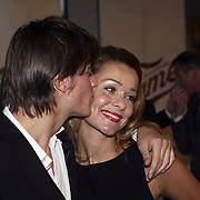 NLD/Tilburg/20080120 - Premiere musical Fame, Froukje de Both en partner Jeroen te Rehorst