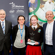 27.04.2016.          <br />  Kalin Foy and Ciara Coyle win SciFest@LIT<br /> Kalin Foy and Ciara Coyle from Colaiste Chiarain Croom to represent Limerick at Ireland's largest science competition.<br /> <br /> Gael Cholaiste Luimnigh student, Emily Ní Chaoimh's project, Graphology  An bhfuil do scríobhnóireacht ag léiriú níos mó eolas fút ná mar a cheap tú?, won the Newstalk Best communicator Award.  Emily Ní Chaoimh is pictured with George Porter, SciFest, Pacal Meehan, LIT and Brian Aherne, Intel.<br /> <br /> Of the over 110 projects exhibited at SciFest@LIT 2016, the top prize on the day went to Kalin Foy and Ciara Coyle from Colaiste Chiarain Croom for their project, 'To design and manufacture wireless trailer lights'. The runner-up prize went to a team from John the Baptist Community School, Hospital with their project on 'Educating the Youth of Ireland about Farm Safety'.  Picture: Alan Place