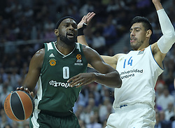 April 25, 2018 - Madrid, Madrid, Spain - SINGLETON  CHRIS of Panathinaikos Superfoods in action against  during the Turkish Airlines Euroleague play-off quarter final series third match between Real Madrid and Panathinaikos Superfoods at the Wizink Center in Madrid, Spain on April 25, 2018  (Credit Image: © Oscar Gonzalez/NurPhoto via ZUMA Press)
