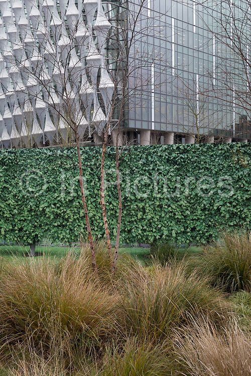 The US Embassy at Nine Elms in south London, on the day when President Donald trump announced on Twitter, his refusal to visit London and open the new state premises, after its historic move from Grosvenor Square, on 12th January 2017, in London, England.