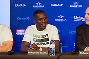 Souleymane Cissoko (fra) during the official weighing and press conference before the heavyweight boxing bout between Tony Yoka (FRA) and Cyril Leonet (FRA) on April 6, 2018 in Boulogne-Billancourt, France - Photo Pierre Charlier / ProSportsImages / DPPI
