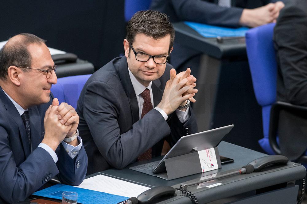 14 FEB 2019, BERLIN/GERMANY:<br /> Dr. Marco Buschmann, MdB, FDP. 1. Parl. Geschaeftsfuehrer, Bundestagsdebatte, Plenum, Deutscher Bundestag<br /> IMAGE: 20190214-01-025<br /> KEYWORDS: Bundestag, Debatte