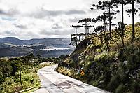 Rodovia SC 438. São Joaquim, Santa Catarina, Brasil. / <br /> Road SC 438. São Joaquim, Santa Catarina, Brazil.