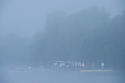 Hamburg. GERMANY.   Misty Foggy,  atmospheric, conditions, Friday, Morning training at the 2014 FISA Junior World rowing. Championships.  08:14:14  Friday  08/08/2014  [Mandatory Credit; Peter Spurrier/Intersport-images] © Peter SPURRIER, Atmospheric, Rowing