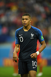 France's Kylian Mbappe during the 2018 FIFA World Cup semi-final match France v Belgium in St Petersburg, Russia, July 10, 2018. France won 1-0. Photo by Christian Liewig/ABACAPRESS.COM