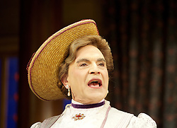 The Importance of Being Ernest <br /> by Oscar Wilde <br /> at the Vaudeville Theatre, London, Great Britain <br /> press photocall <br /> 26th June 2015 <br /> <br /> directed by Adrian Noble <br /> <br /> David Suchet as Lady Bracknell <br /> <br /> <br /> Photograph by Elliott Franks <br /> Image licensed to Elliott Franks Photography Services
