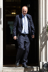 © Licensed to London News Pictures. 26/05/2015. London, UK. Chris Grayling leaving Downing Street in London after a cabinet meeting. Photo credit : Vickie Flores/LNP