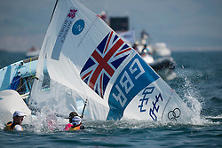 10.08.2012, Bucht von Weymouth, GBR, Olympia 2012, Segeln, im Bild Clark Saskia, Mills Hannah, (GBR, 470 Women) // during Sailing, at the 2012 Summer Olympics at Bay of Weymouth, United Kingdom on 2012/08/10. EXPA Pictures © 2012, PhotoCredit: EXPA/ Juerg Kaufmann ***** ATTENTION for AUT, CRO, GER, FIN, NOR, NED, .POL, SLO and SWE ONLY!