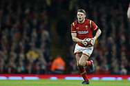 Dan Biggar of Wales in action.RBS Six Nations 2017 international rugby, Wales v Ireland at the Principality Stadium in Cardiff , South Wales on Friday 10th March 2017.  pic by Andrew Orchard, Andrew Orchard sports photography