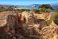 The Greek archaeological site of Ancient Aegina, Kolna, Greek Saronic Islands .<br /> <br /> If you prefer to buy from our ALAMY PHOTO LIBRARY  Collection visit : https://www.alamy.com/portfolio/paul-williams-funkystock/aegina-greece.html <br /> <br /> Visit our ANCIENT GREEKS PHOTO COLLECTIONS for more photos to download or buy as wall art prints https://funkystock.photoshelter.com/gallery-collection/Ancient-Greeks-Art-Artefacts-Antiquities-Historic-Sites/C00004CnMmq_Xllw