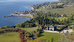 Inveraray Castle and The Royal Burgh of Inveraray from the 18th century watch tower situated on the summit of Dun Na Cuaiche.  Inveraray Castle has been the seat of the Dukes of Argyll, chiefs of Clan Campbell, since the 18th century.......... <br /> (c) Stephen Lawson | Edinburgh Elite media