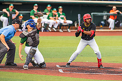 16 July 2020: o2 battter during a Kernel League Baseball game between the Bobcats and the Hoots at Corn Crib Stadium on the campus of Heartland Community College in Normal Illinois