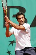 Roland Garros. Paris, France. May 31st 2007..2nd Round..Laurent RECOUDERC against Novak DJOKOVIC