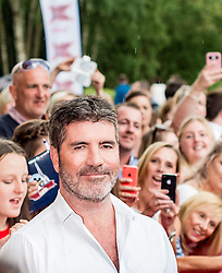 X Factor judge Simon Cowell at the X Factor auditions held at the Leicester City's King Power Stadium<br /> <br /> (c) John Baguley | Edinburgh Elite media