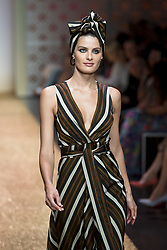 July 3, 2018 - Berlin, Germany - Brasilian Model Isabeli Fontana runs the runway during the Marc Cain Spring/Summer 2019 Fashion Show at Westhafen in Berlin, Germany on July 3, 2018. (Credit Image: © Emmanuele Contini/NurPhoto via ZUMA Press)