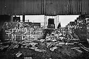 Caserne du RUC vue d'Ardoyne, Nord-Belfast.