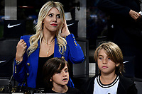 Wanda Nara Icardi on the stands prior to the Serie A 2018/2019 football match between Fc Internazionale and AC Milan at Giuseppe Meazza stadium Allianz Stadium, Milano, October, 21, 2018 <br />  Foto Andrea Staccioli / Insidefoto
