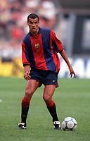 Patrick Kluivert - Barcelona. Barcelona v Lazio. The Amsterdam Tournament. Amsterdam Arena, 5/8/2000. Credit: Colorsport / Stuart MacFarlane.