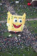 Albuquerque Balloon Fiesta, New Mexico. Mass ascension on Sunday morning at dawn of 500 hot air balloons.