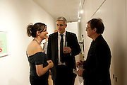 MARGOT HELLER; NEIL WENMAN; PAUL MARKS , Reception of the Silent Auction for the South London Gallery.  Hauser and Wirth. Savile Row. London. 13 October 2011. <br /> <br />  , -DO NOT ARCHIVE-© Copyright Photograph by Dafydd Jones. 248 Clapham Rd. London SW9 0PZ. Tel 0207 820 0771. www.dafjones.com.
