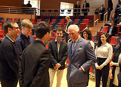 The Prince of Wales during a visit to the Barenboim-Said Akademie, an academy located in Berlin, Germany, that offers bachelor???s degrees in music for talented young persons, most of them from the Middle East and North Africa.