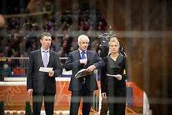Jury springen<br /> KWPN Stallion Selection - 's Hertogenbosch 2014<br /> © Dirk Caremans