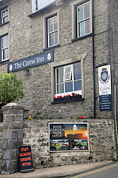 Staff vacancies at pub, Carew, Pembrokeshire, South Wales 2021. Dire shortage of staff for hospitality trade in the UK following Brexit & Covid