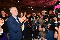 © Licensed to London News Pictures. 12/09/2015. London, UK. The announcement of the new leader of the Labour Party at the QEII centre in Westminster, London on September 12, 2015. Former leader ED Miliband resigned after a heavy defeat at the last election. Photo credit: Ben Cawthra/LNP