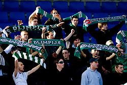 Green Dragons, Fans of Olimpija at 18th Round of PrvaLiga football match between NK Olimpija and NK Labod Drava, on November 21, 2009, in ZAK, Ljubljana, Slovenia. Olimpija defeated Drava 3:0. (Photo by Vid Ponikvar / Sportida)