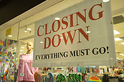 Closing Down, everything must go sign in a closing shop window on 23rd June 2021 in Coventry, United Kingdom.