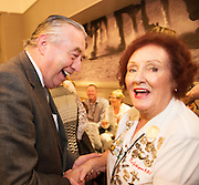 03/11/2016 Repro fee: Rita Gilligan's book The Rock 'n' Roll Waitress from The Hard Rock Cafe My Life by Rita Gilligan  in Hotel Meyrick, Galway was launched my Cllr. Noel Larkin Mayor of Galway.   Cllr Padraig Connelly with Author Rita Gilligan.   Photo :Andrew Downes, XPOSURE