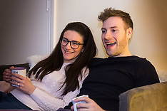 2018-03-28 SWNS - Couple watch Saturday Night Takeaway minus Ant in their Ealing Flat